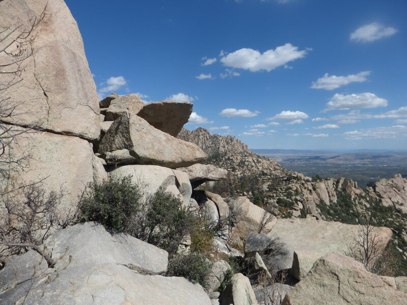 From near the top of Granite Mountain looking southeast.