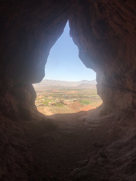 Inside one of Scout Caves