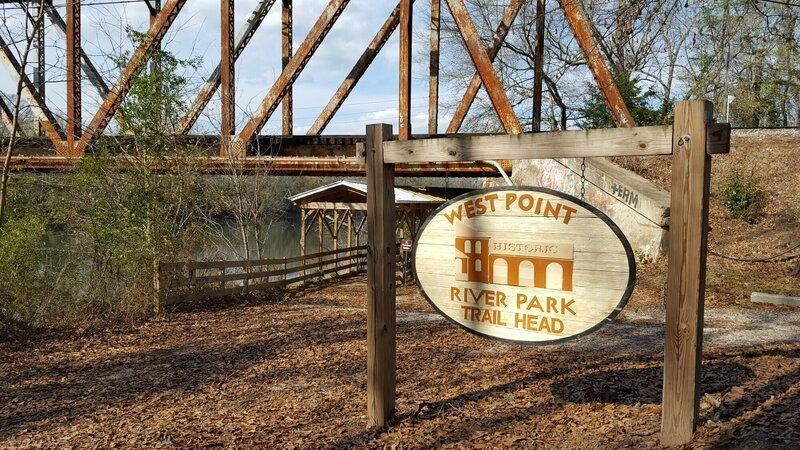 West Point River Park Trailhead sign.