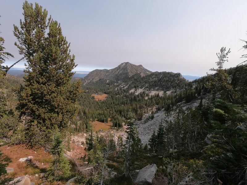 View northeast from Angell Pass towards Van Patten Butte (9-30-2020).