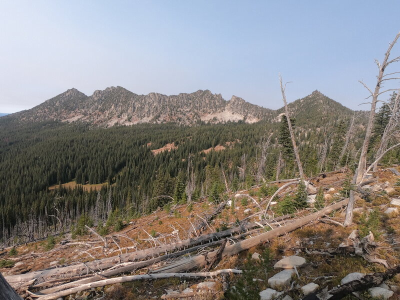 Upper section of Crawfish Creek basin and ridge forming its northern boundary (9-30-2020)