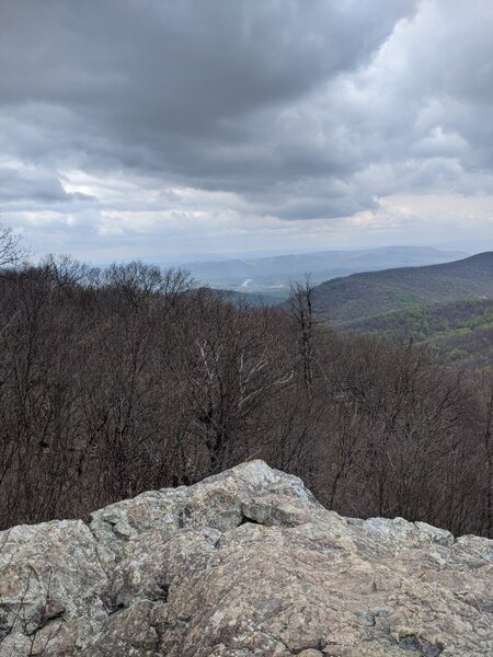 View from Compton Peak west—Shenandoah River visible in the distance.