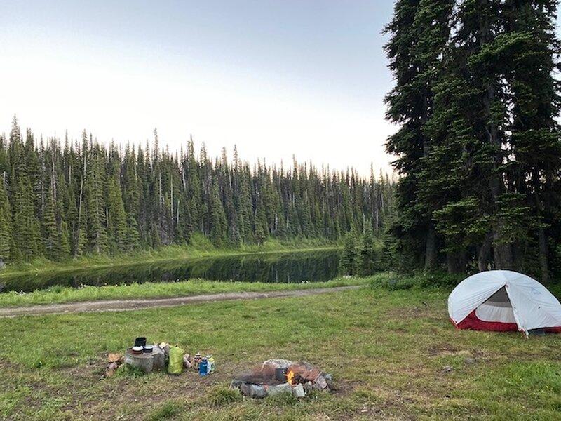 Camping spot at Cabin Lake.