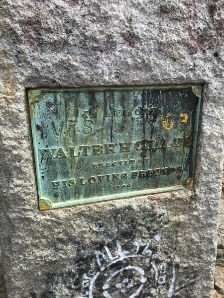 Walter Childs Monument near Wantastiquet Mountain.