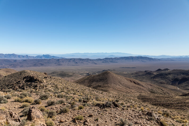 Eastward view from the Amargosa Range on the way to Mount Perry.
