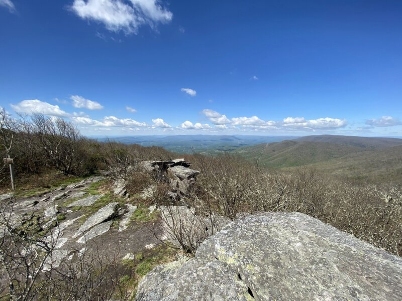 View from the top of Bald Knob (located at the end of the Bald Knob Trail).