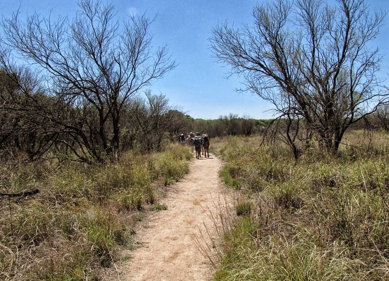 Trail is following the San Pedro river