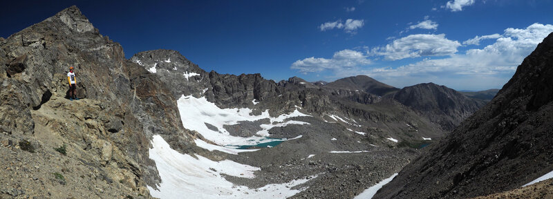 Looking out at Arapaho Glacier.