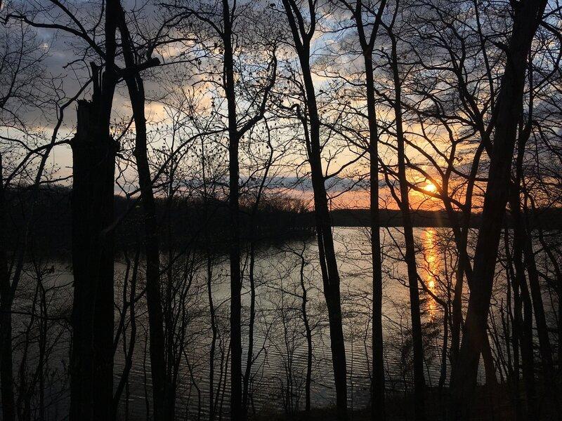 Sunset over Lake Pippen
