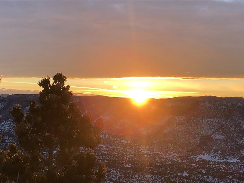 Sunrise from the top of Midland Hill, 1/1/21
