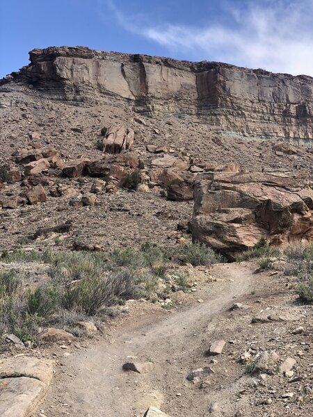 A good trail for trail running. Access from Dry Creek RD. No shade.
