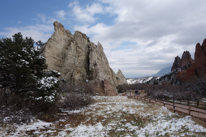 White Rock formation at the Garden of the Gods.