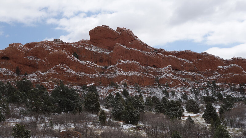 Sleeping Giant rock formation viewed from the Scotsman Trail.
