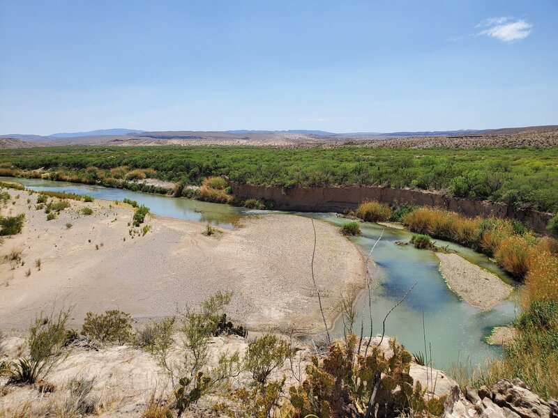 Overlooking the Rio Grande from the top of Boquillas Canyon Trail.