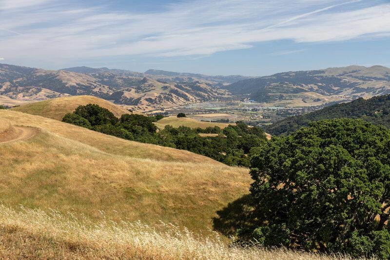 Sunol from Ridgeline Trail.