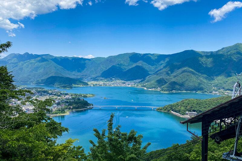 A view of Lake Kawaguchi.