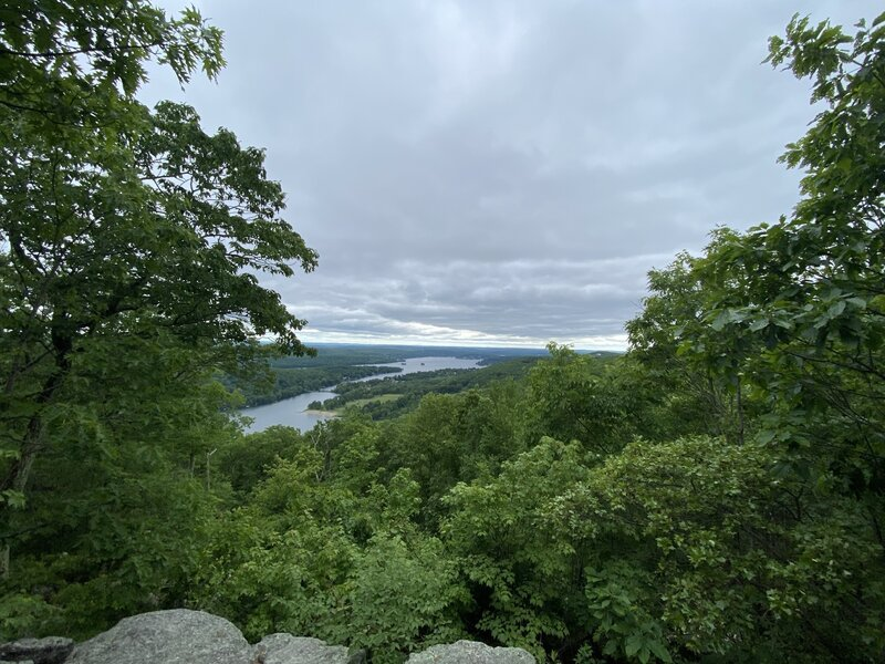 The view over Squantz Pond from the Blue Trail.
