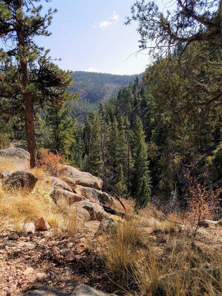 Loose, rocky, steep trail.