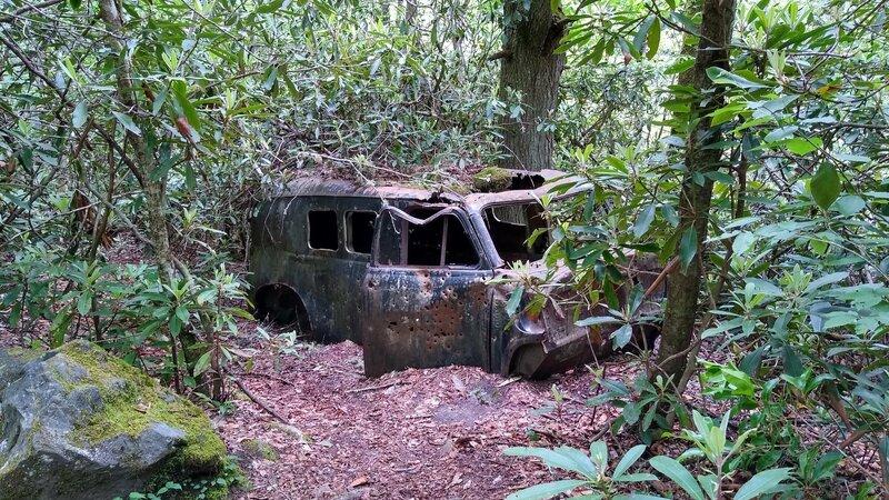Old abandoned van on Snowbird Creek Trail.