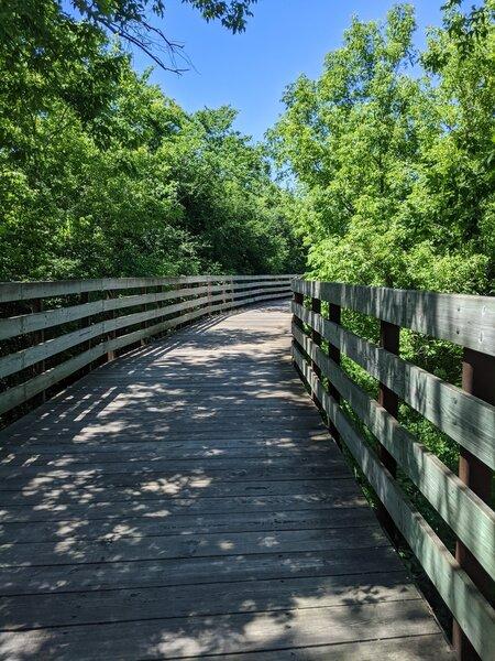 Boardwalk section of Root River - Oak Leaf Trail