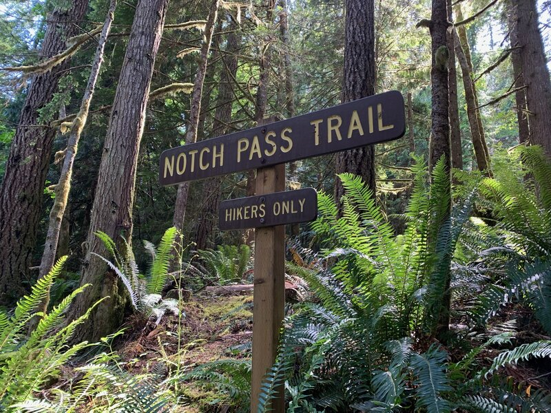 Sign for Notch Pass Trailhead