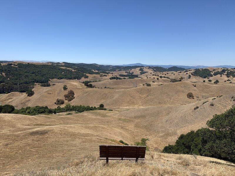 A bench along the Pinole Ridge Trail.