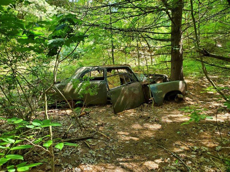 Abandoned car at Landon Bay
