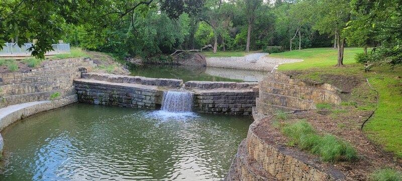 Historic Old Stone Dam across Cottonwood Creek.