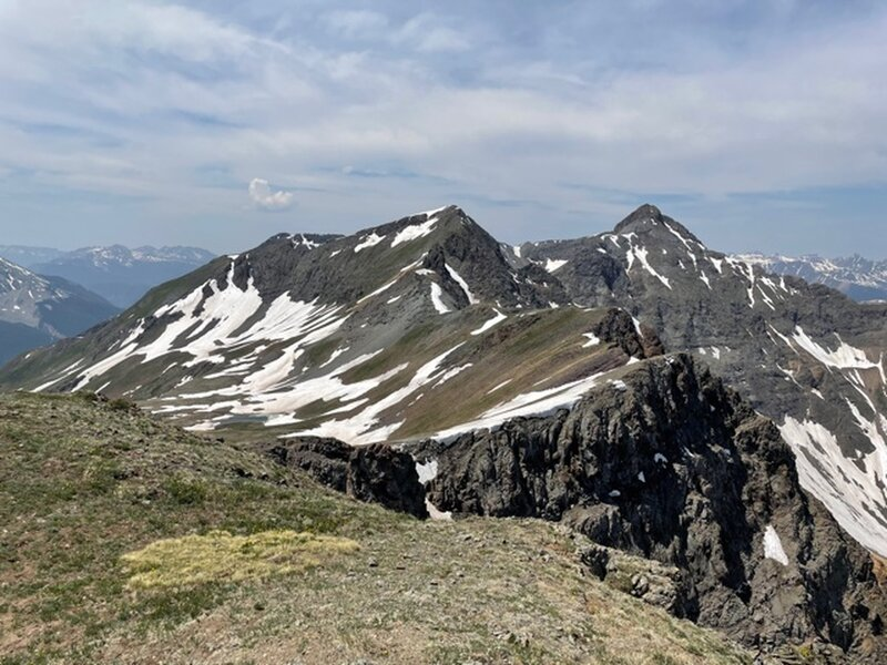 View towards Storm Peak from the top of the pass.