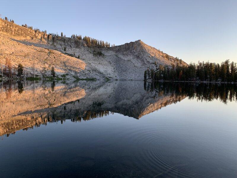 Ostrander Lake at Sunset