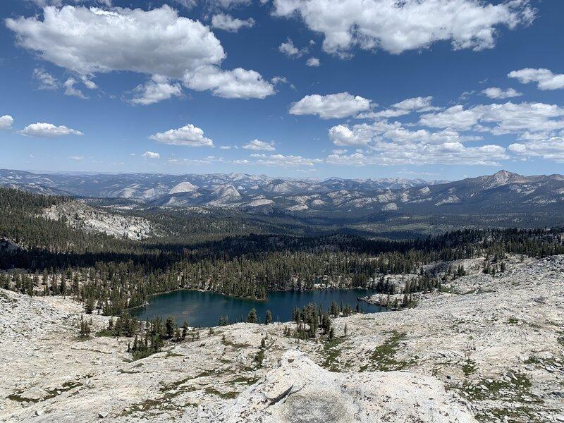 On Buena Vista Peak, overlooking Buena Vista Lake below.