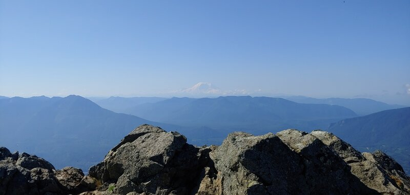 Mt. Rainier from the top of the Haystack on Mt. Si this morning.