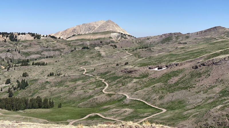 View from Delano Peak Trail.