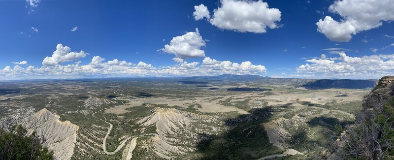 Panorama from Point Lookout with the Montezuma and Mancos Valley below.  Its a beautiful view!
