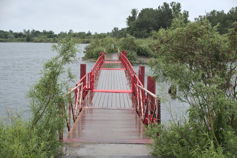 Bridge in Tommy Thompson Park.
