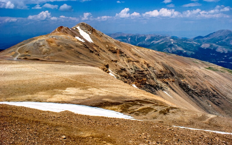 The view of Mount Lincoln from Mount Cameron.