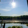 An early summer morning view of Grass Lake