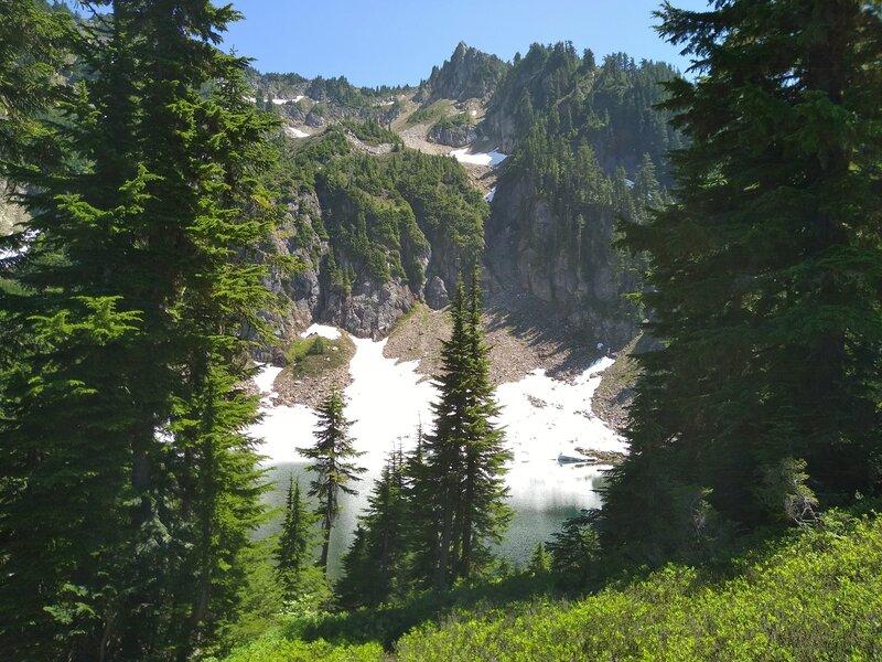Little Blue Lake along Pilot Ridge Trail.