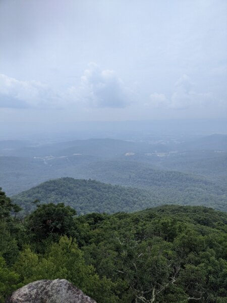 View from Mary's Rock on a hazy summer day.