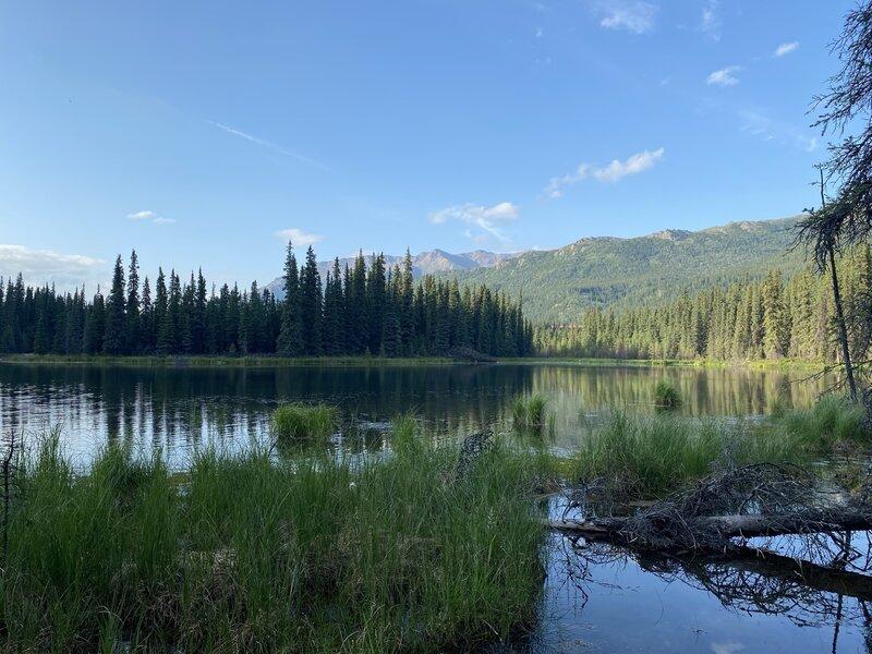 Horseshoe lake in the evening.