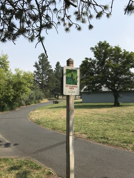 City Playfield Path sign