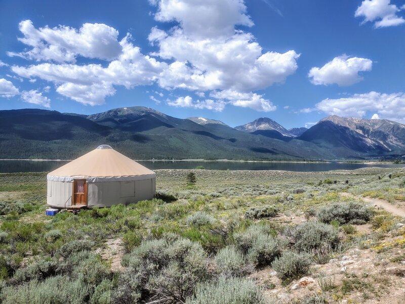 Yurt located at Twin Lakes.