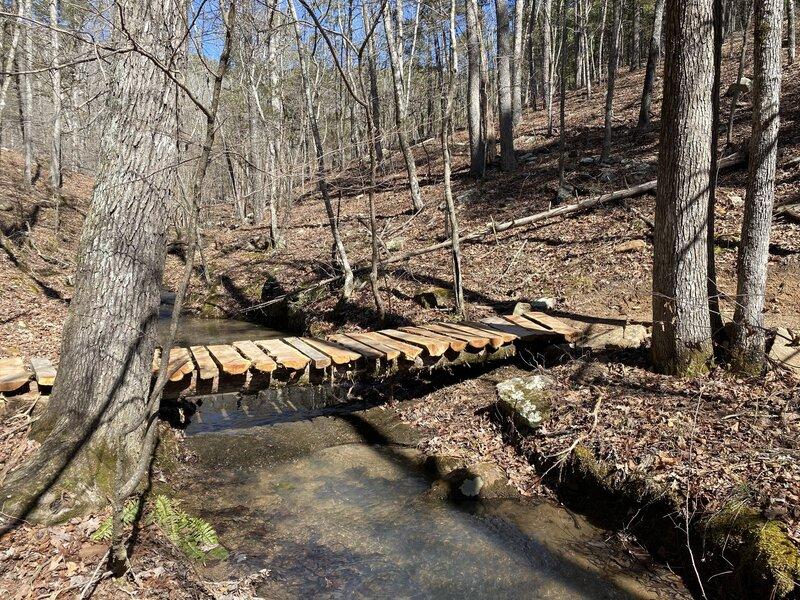 Small bridge over a stream.