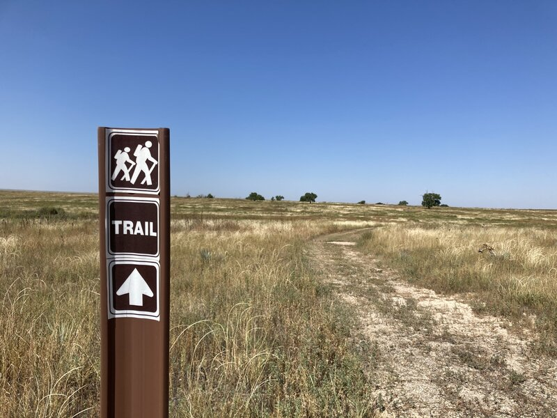 Section of the trail heading away from the visitor's center