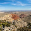 The red rock that gives Red Rock Canyon National Recreation Area its name is so obvious looking down at Calico Hills from Turtlehead Peak