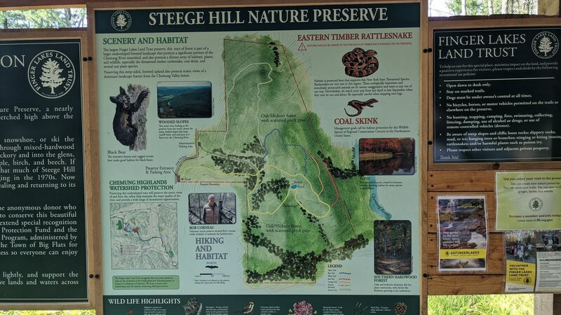 Map overview at the start of the trails.