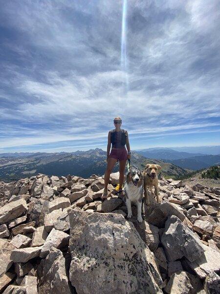 Friends on top of Jackson Peak!