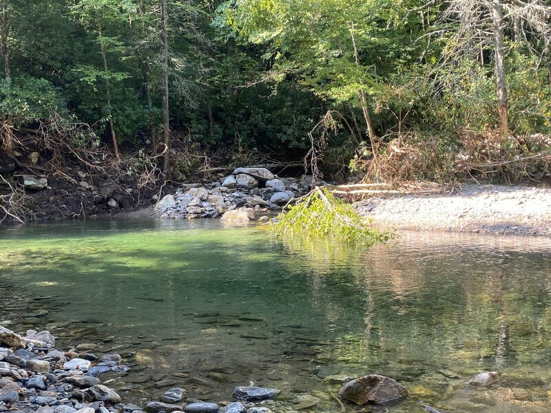 Swimming hole a mile from trailhead on US 276 S.