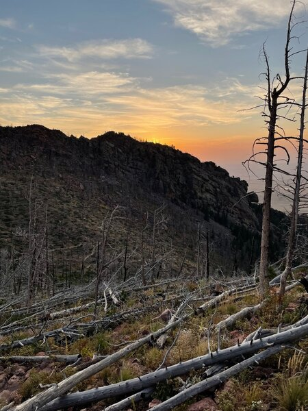 Top of Shadow Canyon, just before South Boulder Peak at Dawn