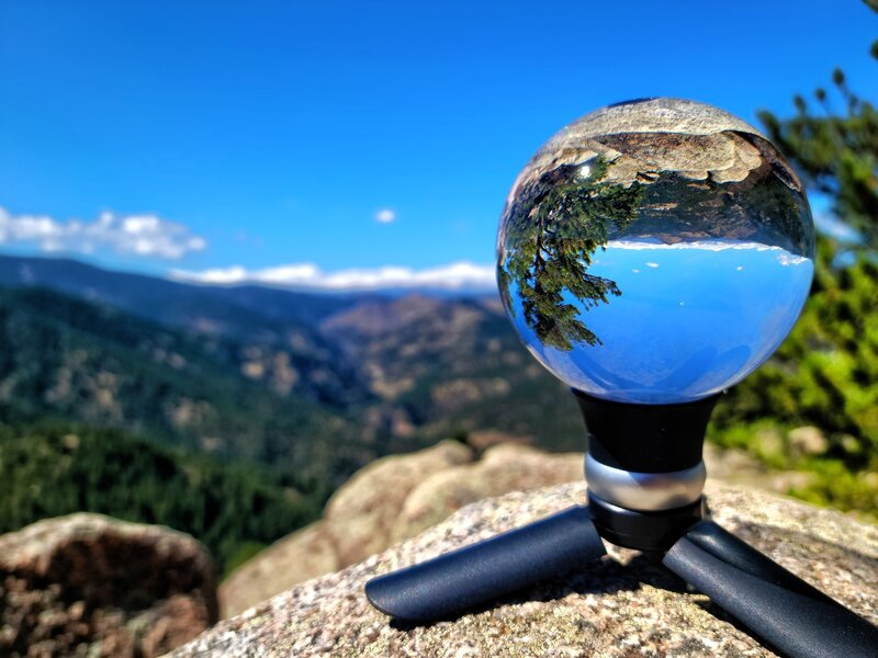 Making use of my Lens Ball to capture a pic OF LOST GULCH